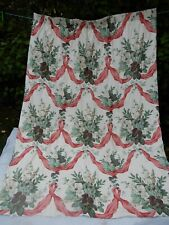 "Vintage curtain fabric ""HOLLYHOCK & SWAG"" FLORAL DESIGNERS GUILD RARE 1983 door?"