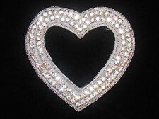 Bridal pearl beaded crystal strass broderie Patch Motif Applique Costume
