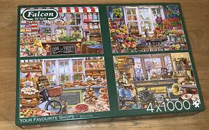 Falcon De luxe 4 x 1000 Piece Jigsaw YOUR FAVOURITE SHOPS. Complete & Resealed.