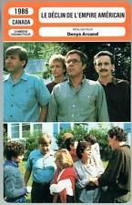 LE DECLIN DE L'EMPIRE AMERICAIN - Denys Arcand (Fiche Cinéma) 1986