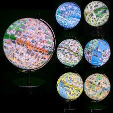 NIGHT LIGHT GLOBE WORLD MAP OF CITY SOUVENIR GIFT TABLE DESK BEDSIDE LED LAMP