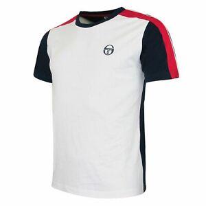 Sergio Tacchini Ilan Top Short Sleeve Navy White Mens T-Shirt 37696 241