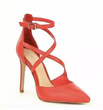 NEW Gianni Bini Red Leather Heels size 8.5