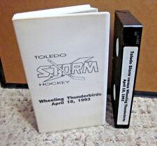 Toledo Storm hockey Wheeling Thunderbirds April 18 1993 Finals Game 6 overtime