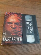 Unforgiven Raw 2003 Ppv Vhs Tape Wwe Wwf Home Video Wrestling