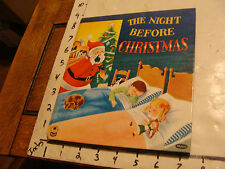 Salesman Sample or Dummy book: 1950's Whitman cosy THE NIGHT BEFORE CHRISTMAS