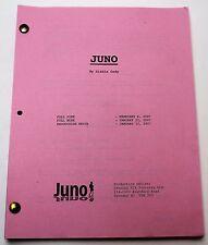JUNO * 2007 Movie Script Screenplay * Ellen Page & Michael Cera, Comedy Drama