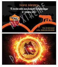 Biglietti - Inviti Compleanno personalizzati ROMA CALCIO - 30 Pz