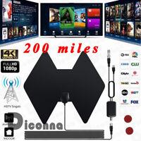 200 Mile Range Antenna TV Digital HD Amplifier Antena Digital Indoor HDTV 1080 P
