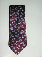 Brioni Floral Design Maroon Tie