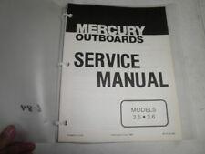 Mercury factory outboard motor service manual 3.5 3.6 hp 1983