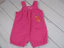 """""""Child of Mine By Carter's"""" GIrls Pink Polka Dot Romper Size 6-9 Months - A1181"""