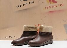 REFLEX Damen Winter Schuhe Stiefel Leder 39 Damenschuh uk6 True Vintage NOS brun