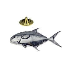 Permit fish fishing English Pewter Lapel Pin Badge XTSPBF45