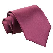 Men's Plain Satin Evening Work Special Occasion Wedding Groom Extra Long Tie