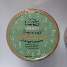 MARA-MI - Hampton Art Little Classic Alphabet Rubber Stamp Set