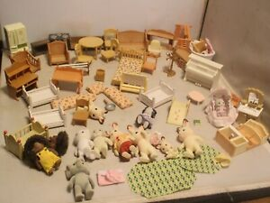 Calico Critters Huge LOT Animals Families, Babies  Furniture, Accessories