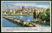Geneva Switzerland Europe Cities c50 Y/O Trade Ad Card