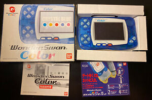 Boxed Crystal Blue Edition Console BANDAI WonderSwan Color USA