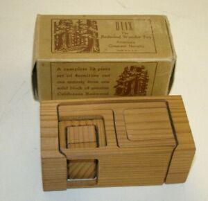 Vintage Blix - Redwood Wonder Toy - Puzzle Game USA 10 pc Furniture Set - RARE