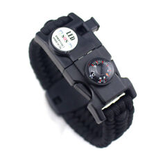 20 In 1 Waterproof LED Light Outdoor Survival Camo Paracord Bracelet Compass Kit