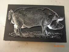 Printing Letterpress Printer Block Detailed Pig Print Cut