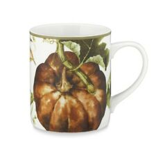 New Williams Sonoma Botanical Pumpkin Harvest Set of 4 Coffee Tea Mug Cups