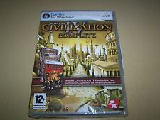 Sid Meier's Civilization IV complete (PC-DVD) **NEW SEALED **