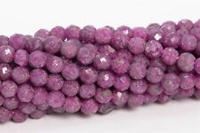 3MM Genuine Natural Ruby Beads Grade AA Faceted Round Gemstone Loose Beads 16""