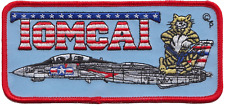 United States Navy USN Grumman F-14 Tomcat Side View Red Embroidered Patch