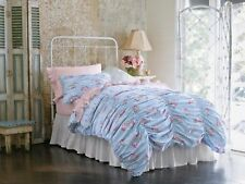 Rachel Ashwell Simply Shabby Chic Pink Cabbage Rose Ruched Duvet Set Full/Queen