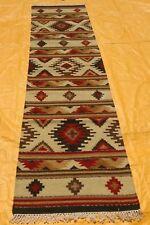 BEIGE MULTI Afghan Handmade Tribal Nomadic Wool Kilim Rug Runner 80x300cm -50%