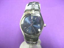 BULOVA ACCUTRON 26M04 SWISS MADE STAINLESS STEEL LADIES WATCH BLUE DIAL  DATE