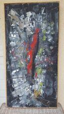 Tableau abstrait huile Maddy Jourdain