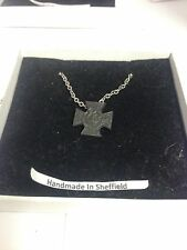"""Victoria Cross WE-VCPIN Emblem on Silver Platinum Plated Necklace 18"""""""