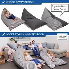 Stuffed Animal Storage Bean Bag Chair Design Large Canvas Pouch Stripe Home Sofa