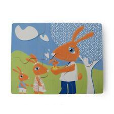 Casse-tête - puzzle aimanté - famille de lapin