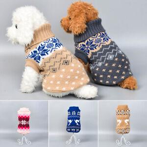 Pet Cat Dog Knitted Jumper Sweater Coat Jacket Puppy Vest Clothes Warm Tank au