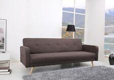 Schlafcouch 217x88 Schlafsofa Couch Sofa Schlafunktion Polstergarnitur Braun