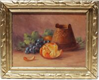 Martella Cone Lane (American,1875-1962) Antique oil on panel, Still life, fruit