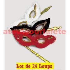 Lot de 24 Loups,Masque,Bal Costumé,Carnaval,Venise,Accessoires,Déguisement,Fêtes