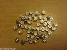 Silver Plated Round 4 - 4.9 mm Size Jewellery Beads
