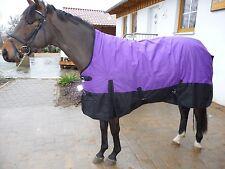 *1200 D.WINTEROUTDOORDECKE 400 Gramm HIGHNECK*135 cm Purple/Lila-Schwarz