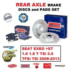 Para Seat Exeo 1.6 1.8T TSI 2.0 TFSI Tdi 2008-2013 Discos de Freno Trasero 255mm