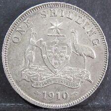 1910 Australia 1s One Shilling ** XF/EF - LUSTRE ** #161021-01 =HIGH GRADE=