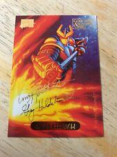 Marvel Masterpieces Gold Foil Signature Evilhawk Card 35 Fleer 1994 NM/M