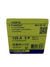 Square D Hgn36125 Power Pact Breaker. 3 Pole 125 Amp 600 V New In Box