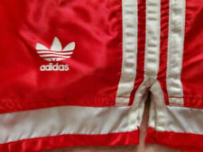 Vintage 90s ADIDAS RED 3 Stripes Shiny Nylon Soccer Shorts Men's L