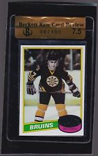 1980 Topps #140 Ray Bourque Rookie BVG 7.5 NM+ Boston Bruins RCR
