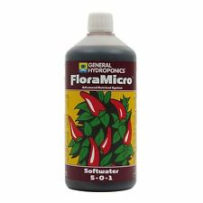 General Hydroponics GHE FloraMicro SW 1L Nitrogen Calcium Trace Minerals Flora
